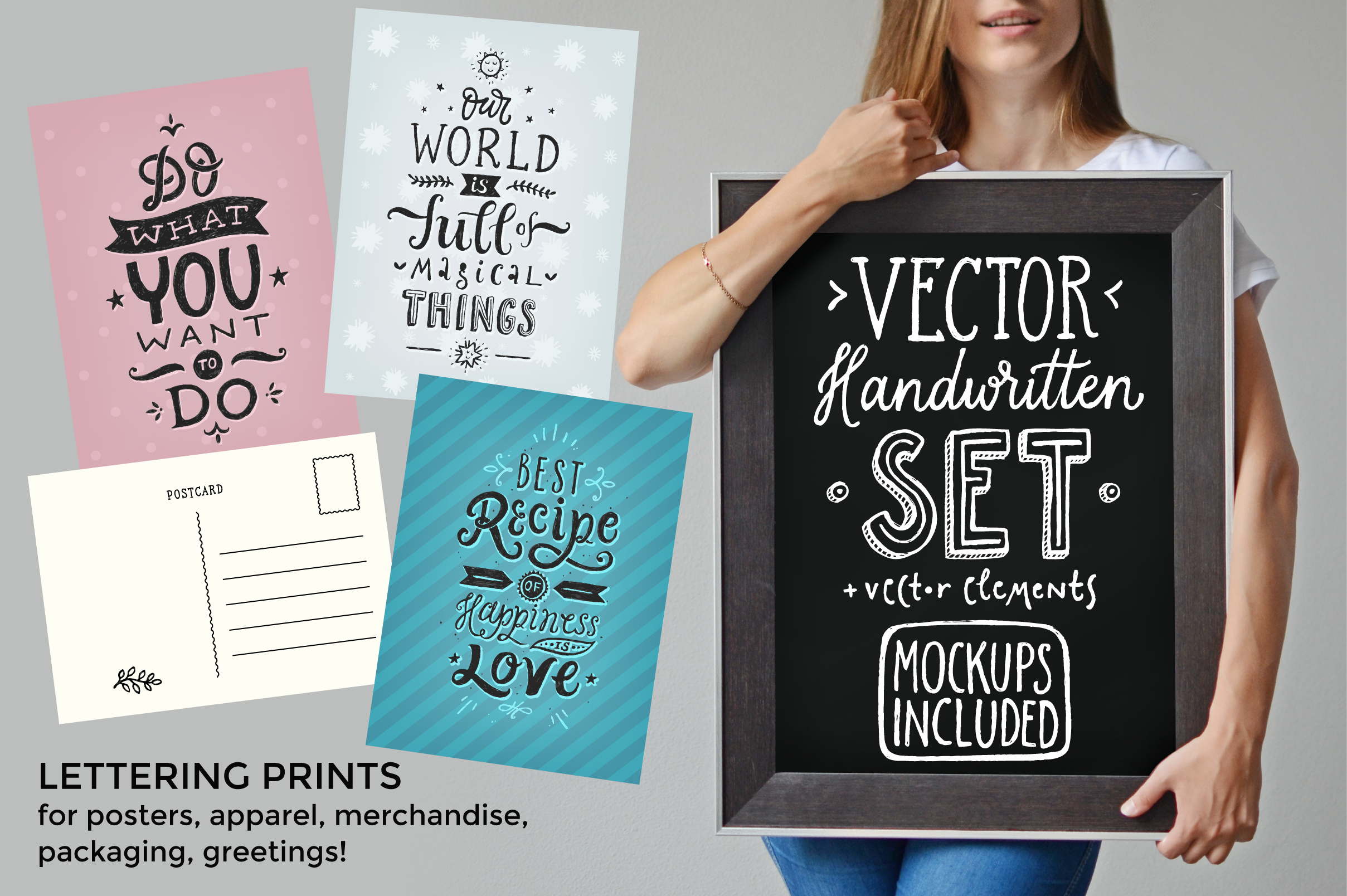 Vector Handwritten Set example image 2