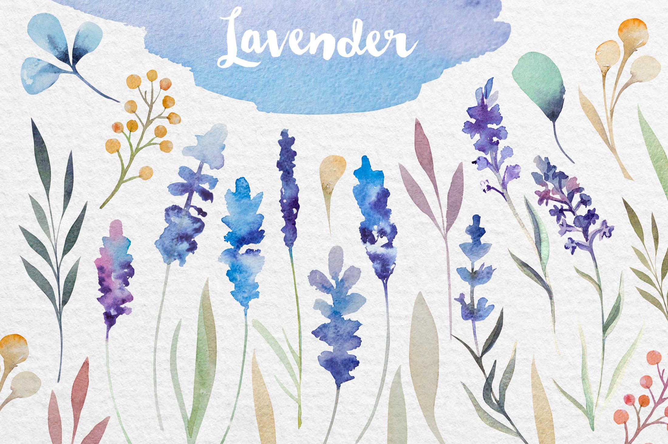 Lavender watercolor DIY example image 2