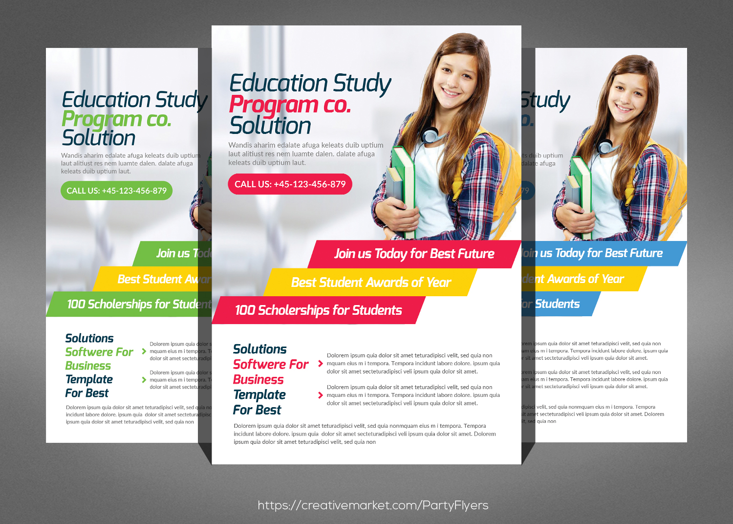 brochure templates for students - kids school flyer psd by business templ design bundles