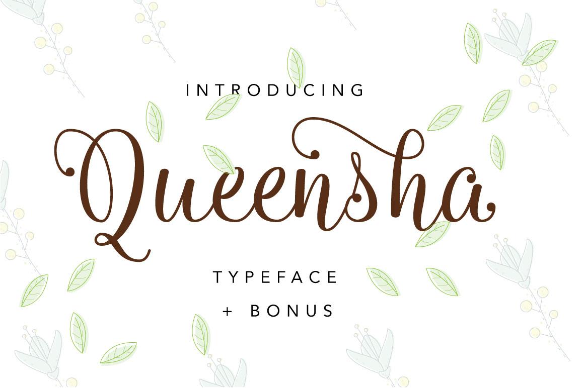 Queensha Typeface example image 1
