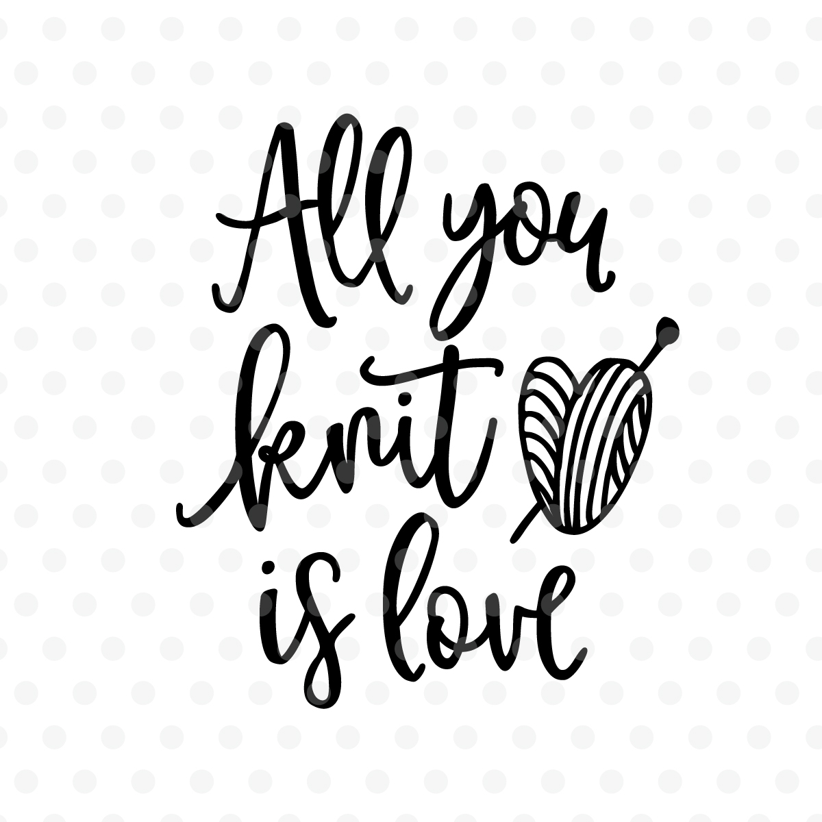 "Résultat de recherche d'images pour ""all you knit is love"""