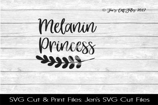 Melanin Princess SVG Cut File example image 1