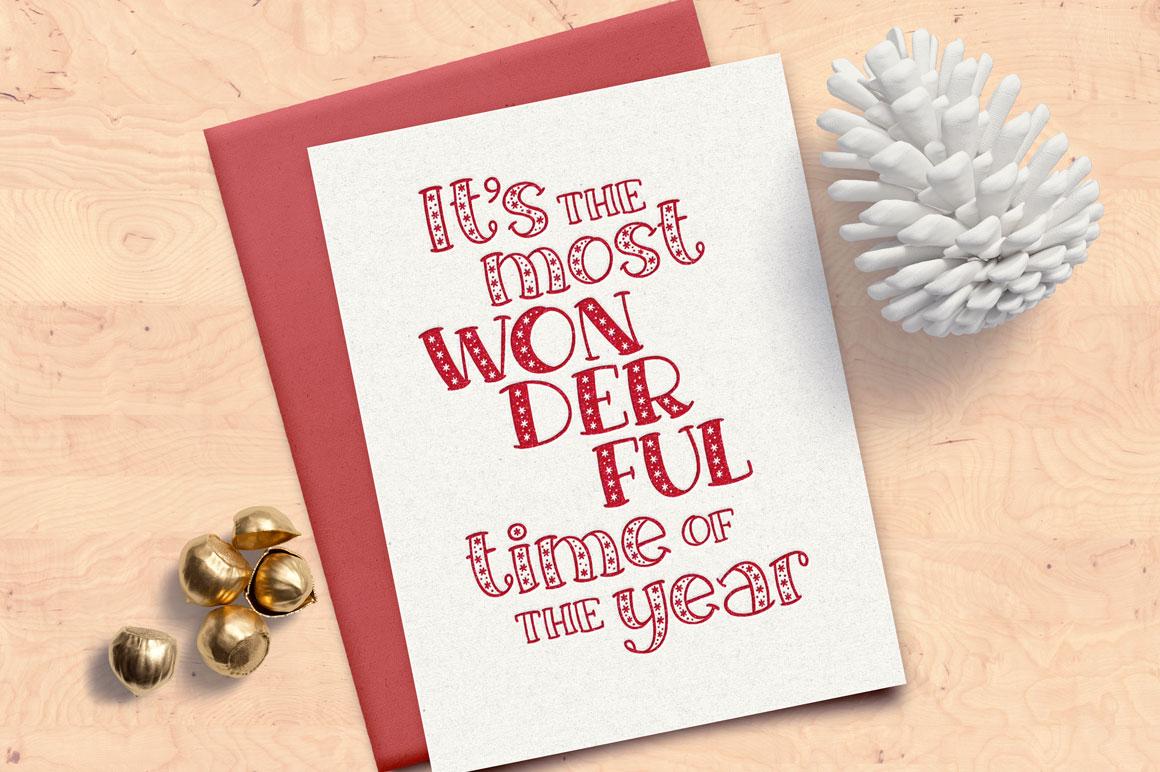 Big Freeze & Big Frost - holiday greeting card idea mockup