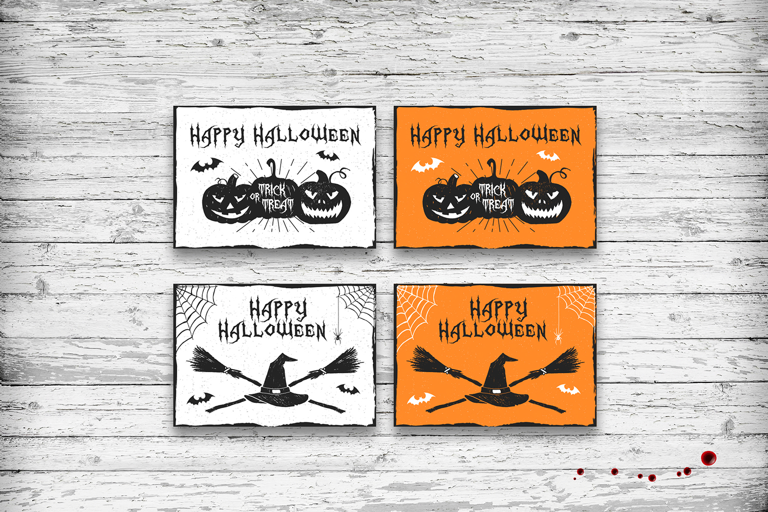 Halloween 20 greeting cards by cosmic design bundles halloween 20 greeting cards example image 7 kristyandbryce Images