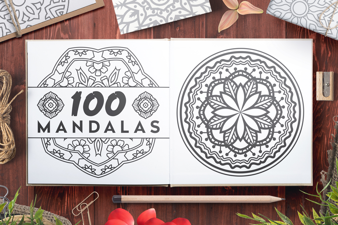 100 Vector Mandala Ornaments example image 1