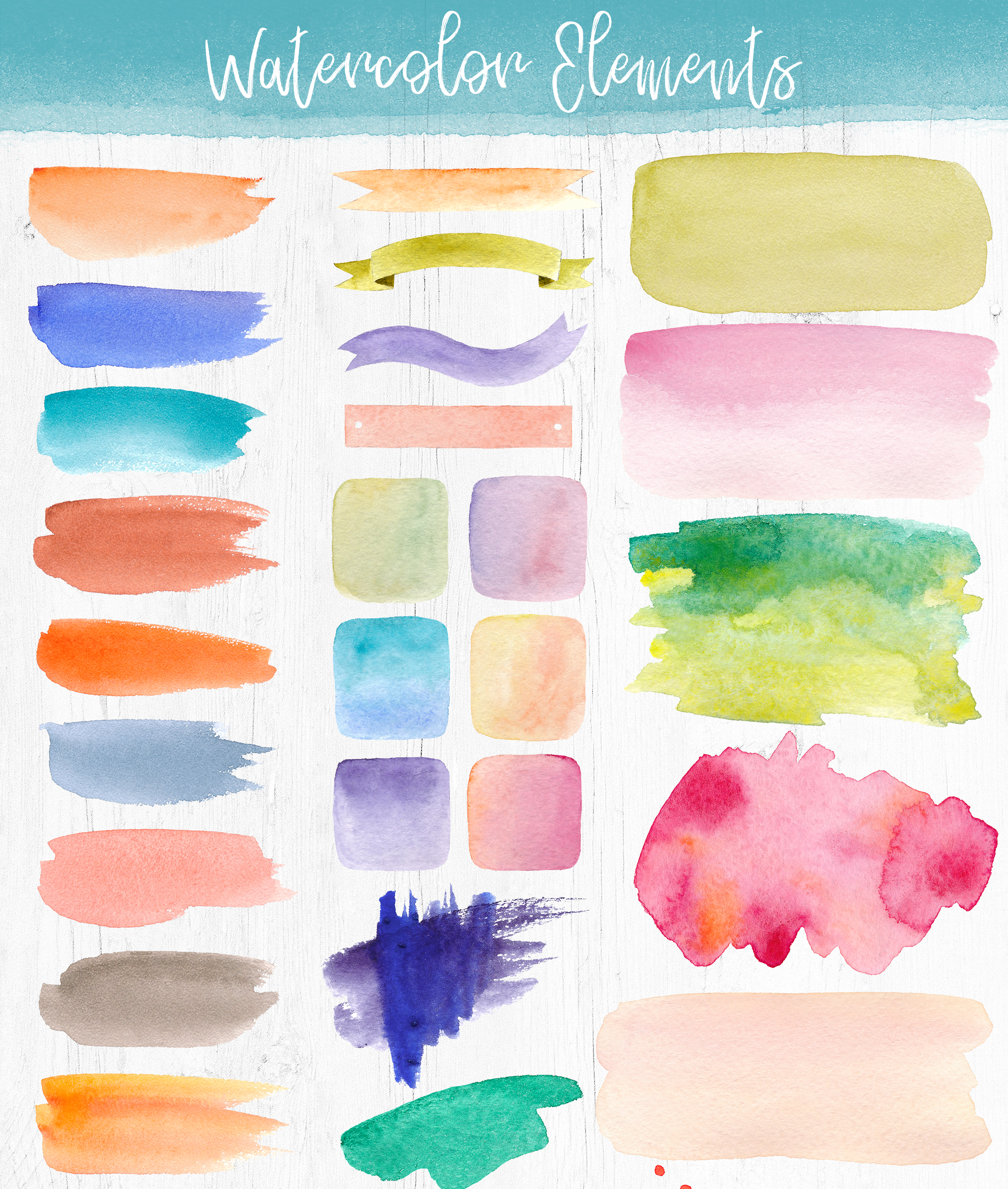 Watercolor Pack. Textures and Logos example image 3