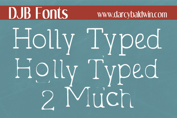 DJB Holly Sessions Font Bundle example image 13