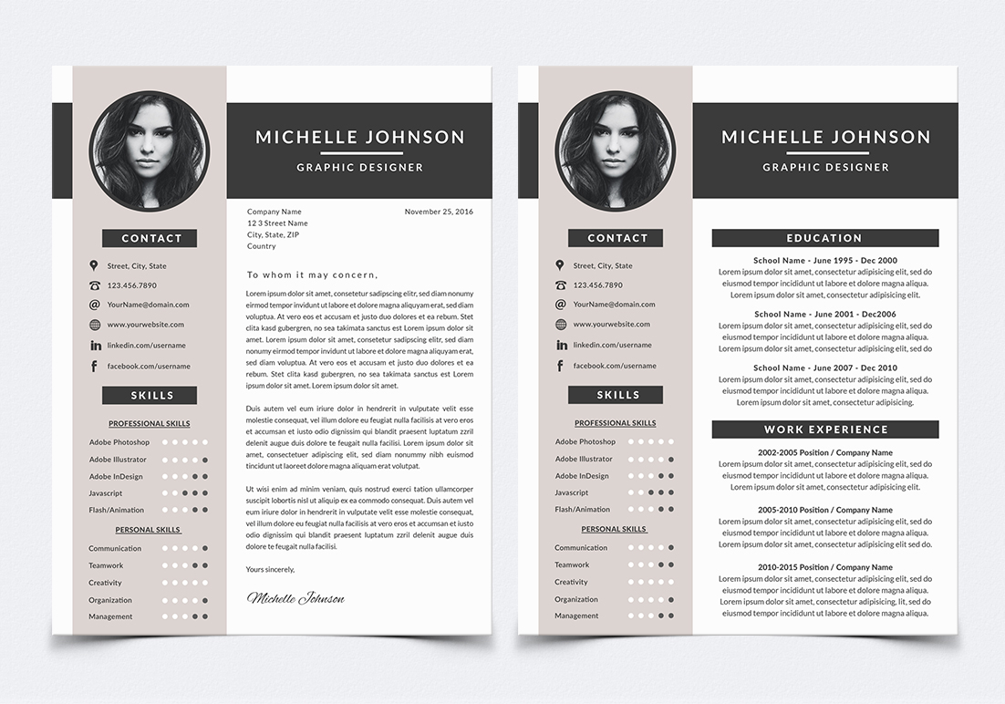 Resume template for photoshop by nm des design bundles resume template for photoshop example image 1 yelopaper Choice Image