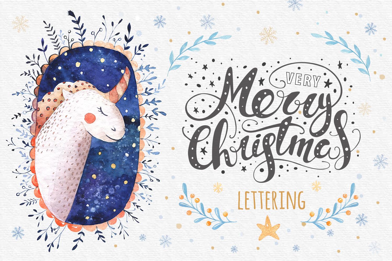 60%off Watercolour Christmas BUNDLE! example image 6