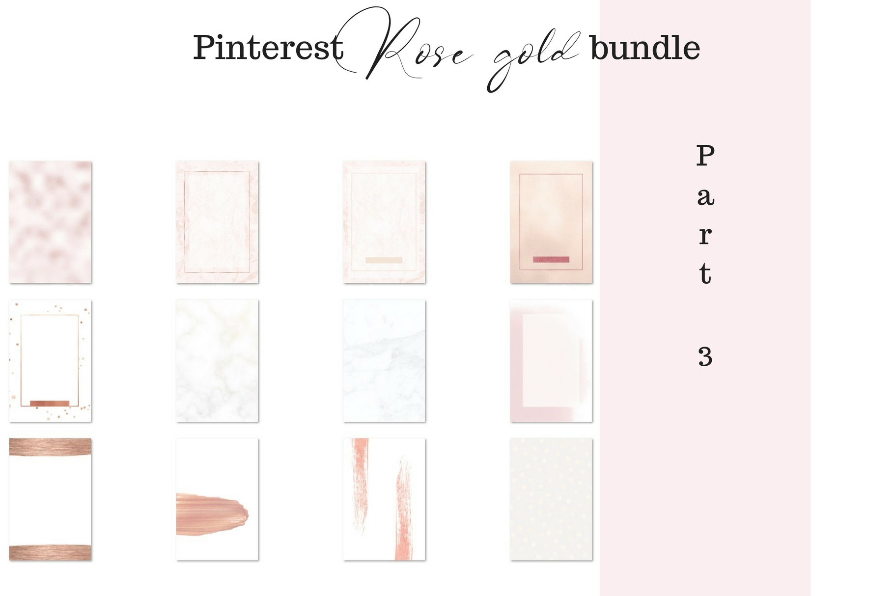 Pinterest rosé gold bundle example image 4