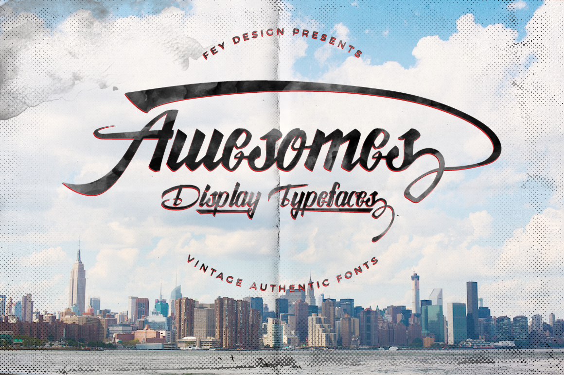 Awesome Display Typeface example image 1