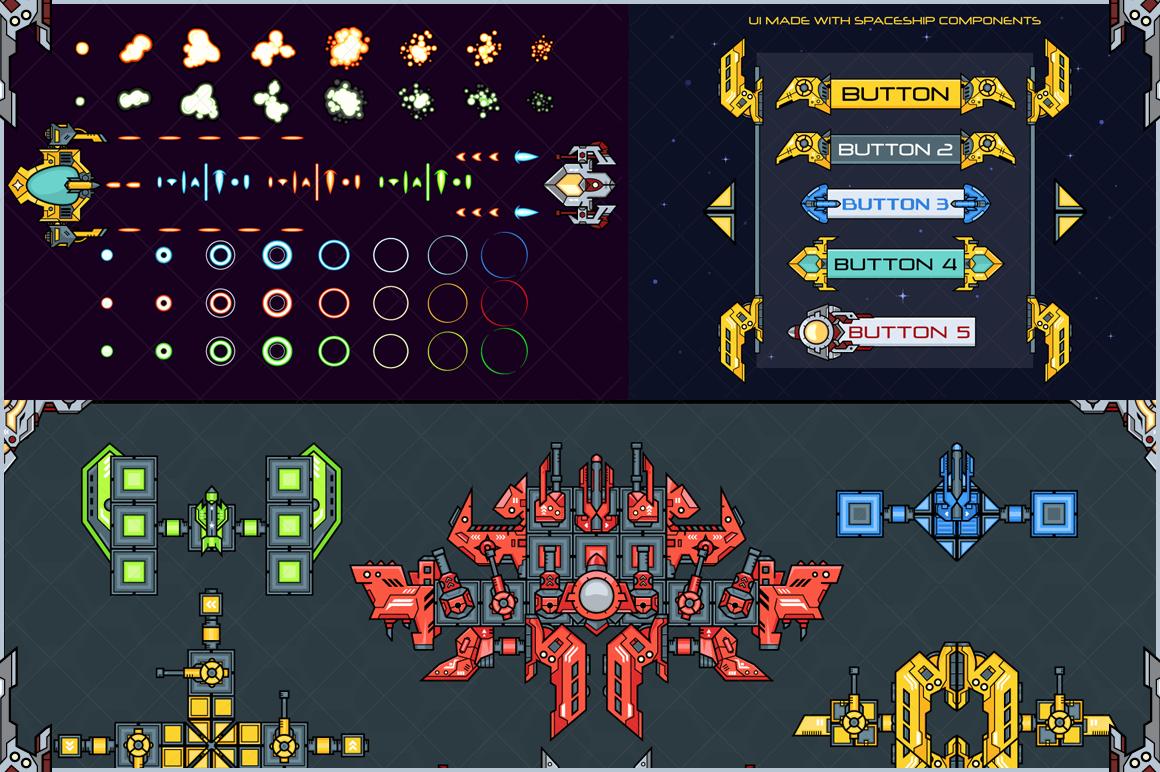 Spaceship Creation Kit - Game Assets example image 4