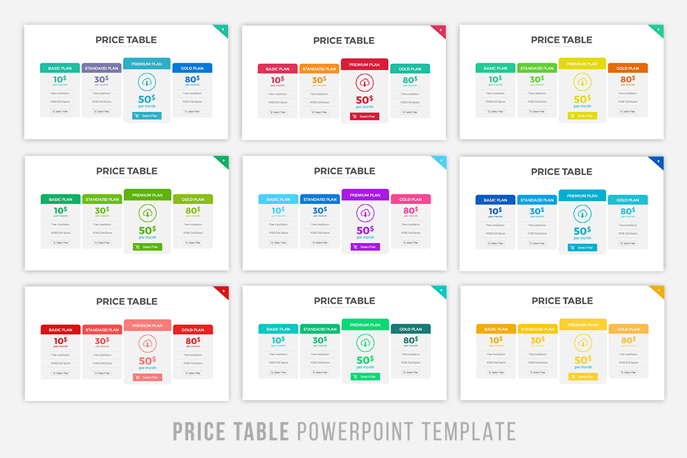 Price table powerpoint template by rrgr design bundles price table powerpoint template example image 4 toneelgroepblik Image collections