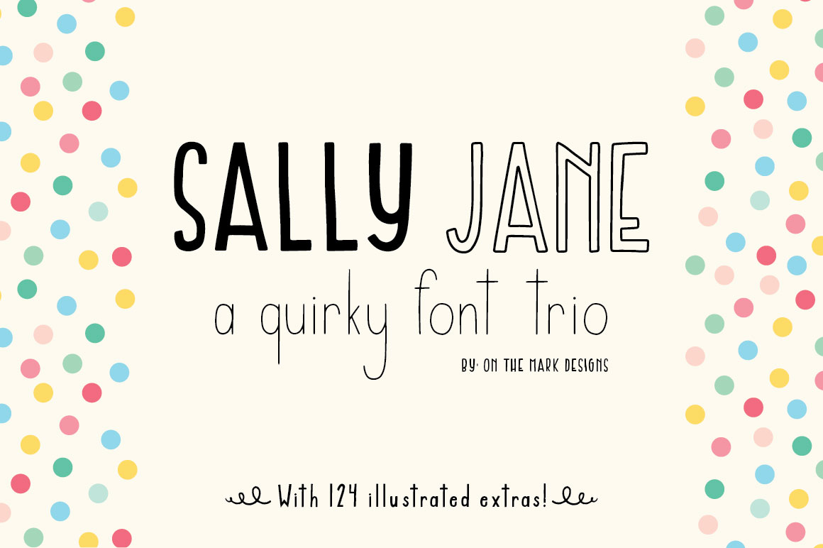 sally jane san serif font trio by on th font bundles. Black Bedroom Furniture Sets. Home Design Ideas