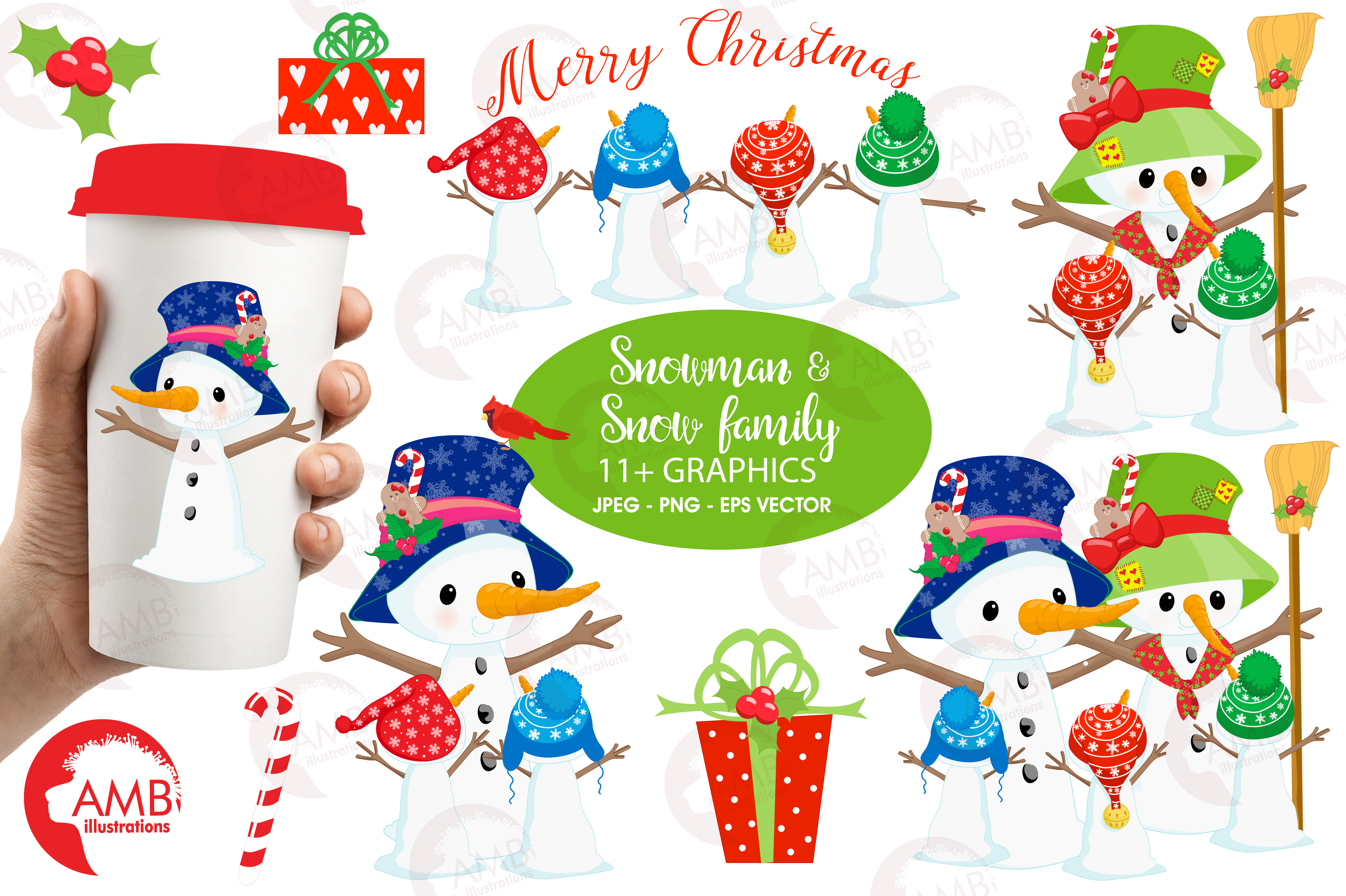 snowman clipart christmas clipart fro design bundles rh designbundles net  snowman family clipart free
