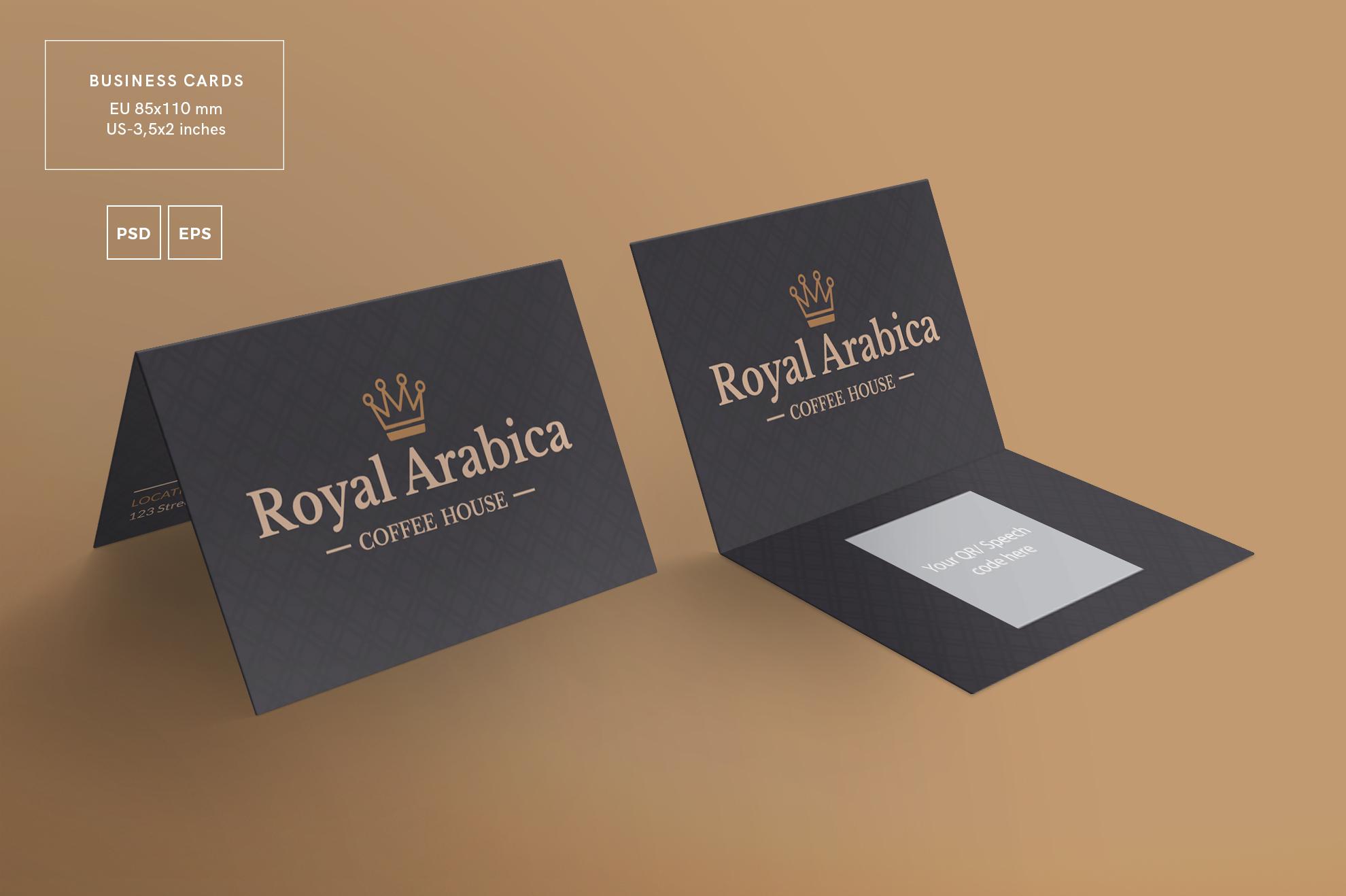 Coffee House Business Card Design Templ   Design Bundles