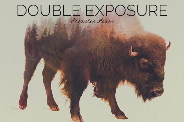 Double Exposure Photoshop Action example image 3