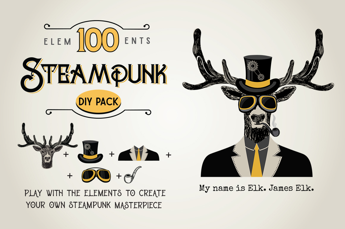 STEAMPUNK Bundle example image 3