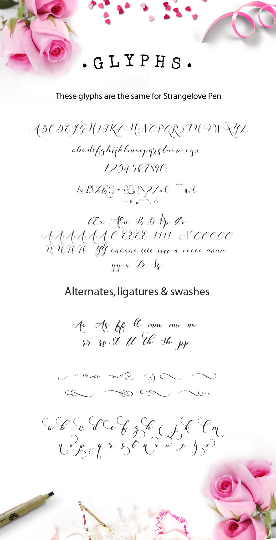 Strangelove Calligraphy Font - wedding font example image 10