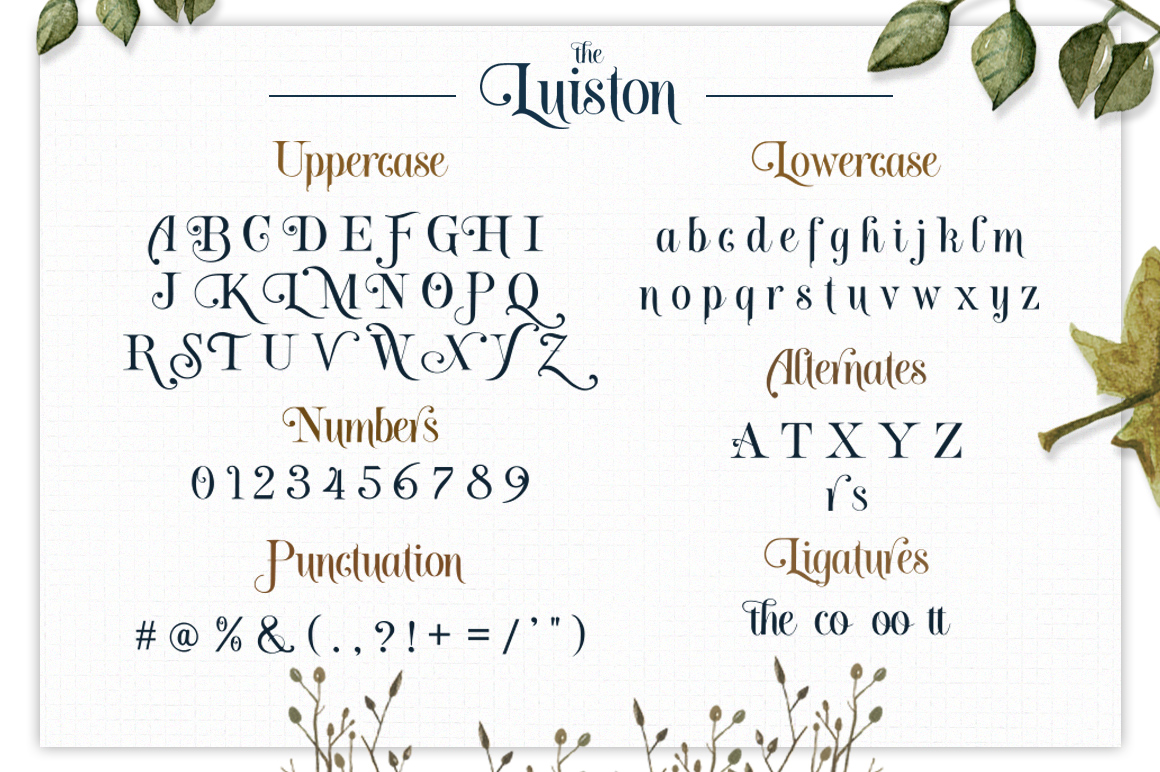 The Luiston San Serif example image 10
