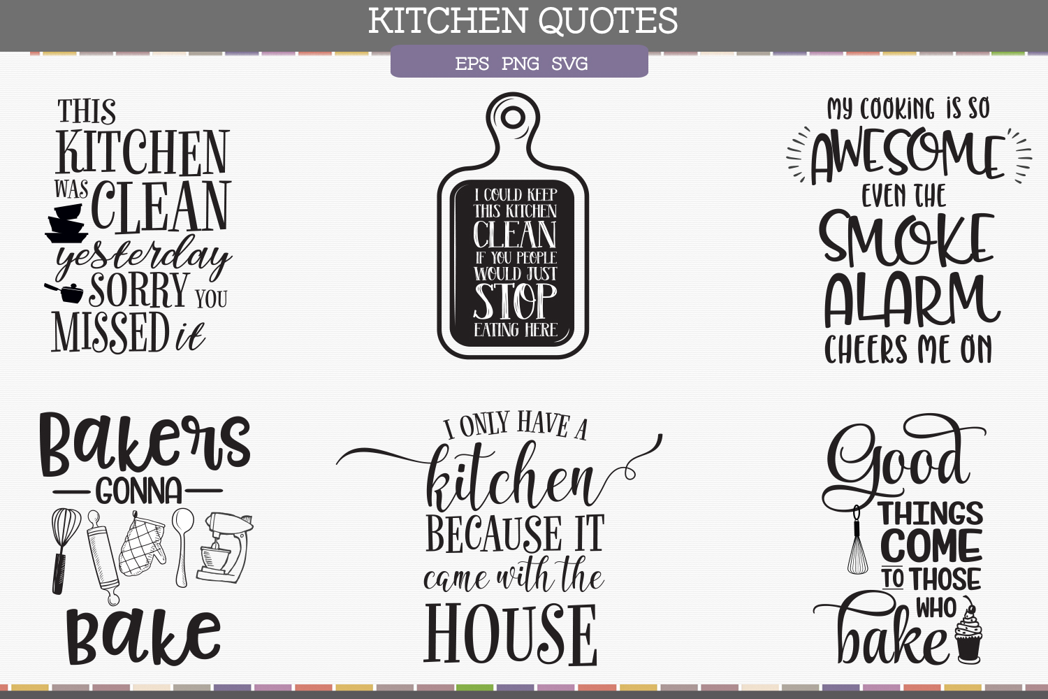 Kitchen quotes by after ten graphics design bundles for Kitchen design quotes
