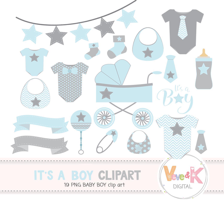 Baby Clip Art, Baby Boy Clipart, Baby Boyl Baby Shower DIY, Itu0027s A