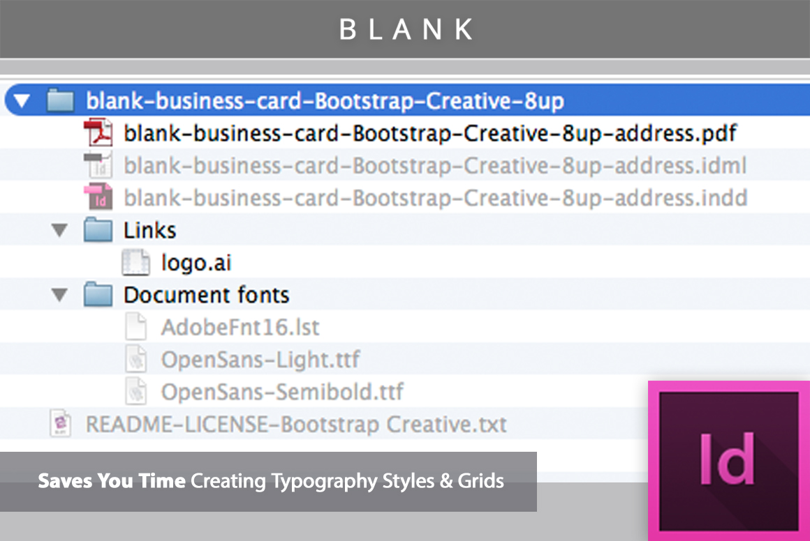 Blank business card indesign template b design bundles blank business card indesign template example image 2 wajeb Image collections
