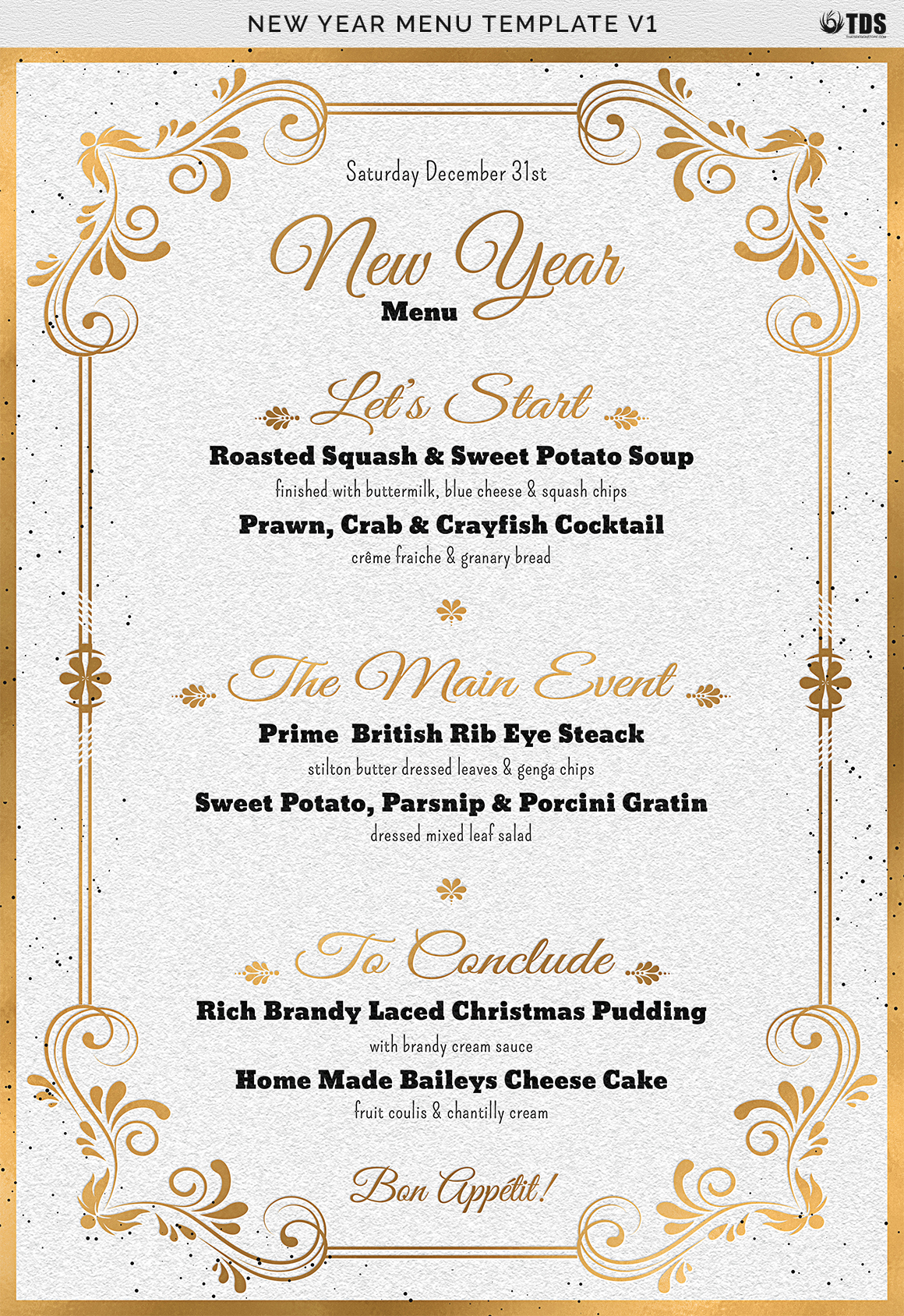 New Year Menu Template V1 example image 12