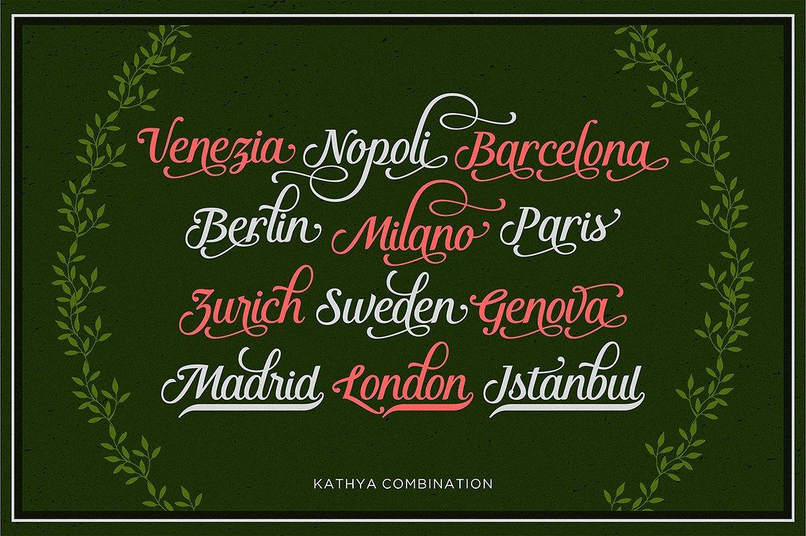Kathya Script example image 4