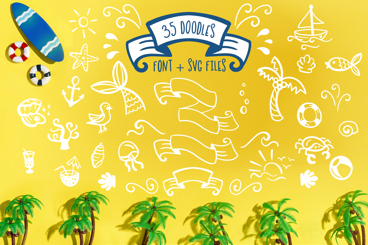 Jellysea - Font Duo + Summer Doodles example image 7