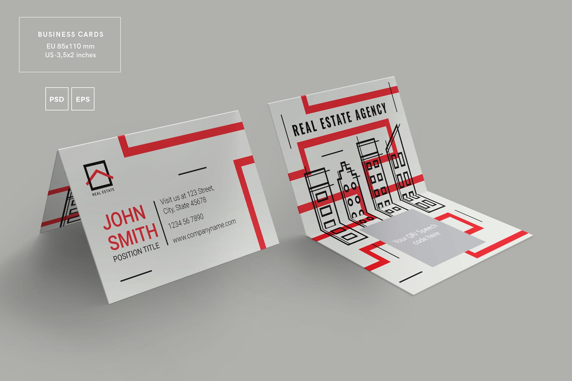 Real Estate Agency Business Card Design | Design Bundles