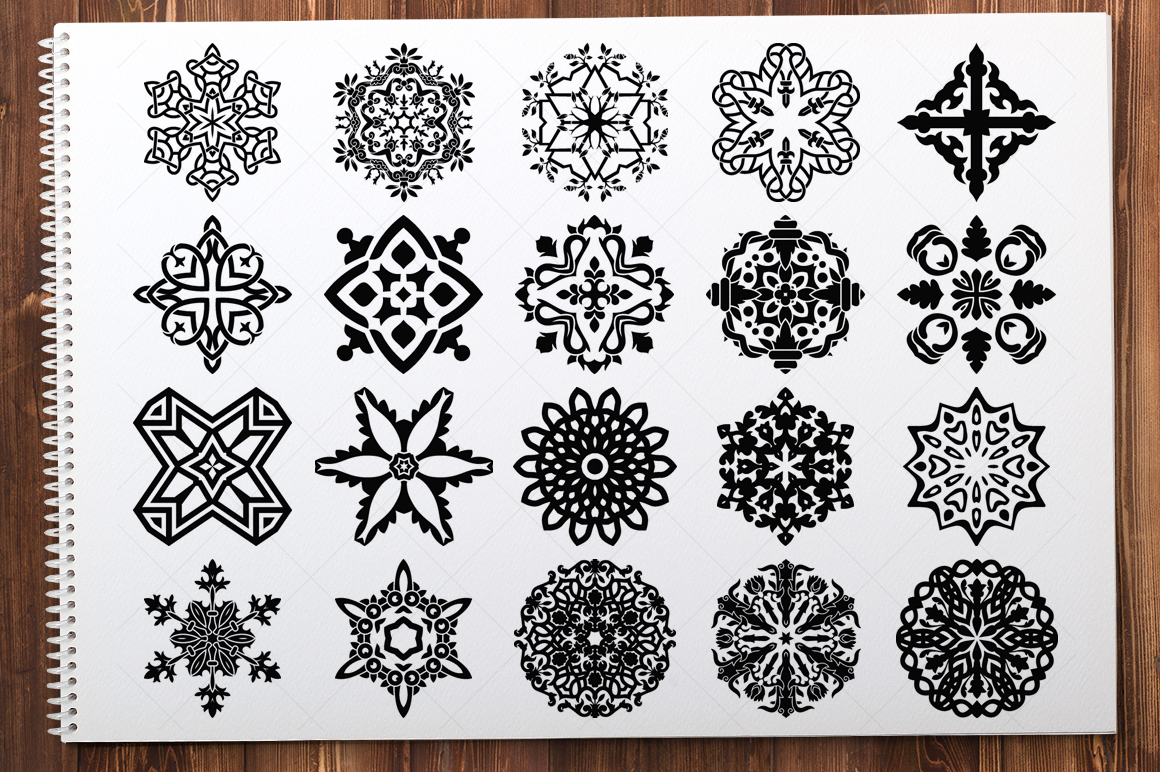 500 Vector Mandala Ornaments example image 15