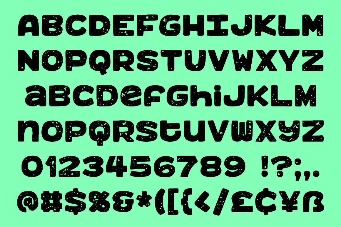 Benji: a bold, fun monospace font! example image 3