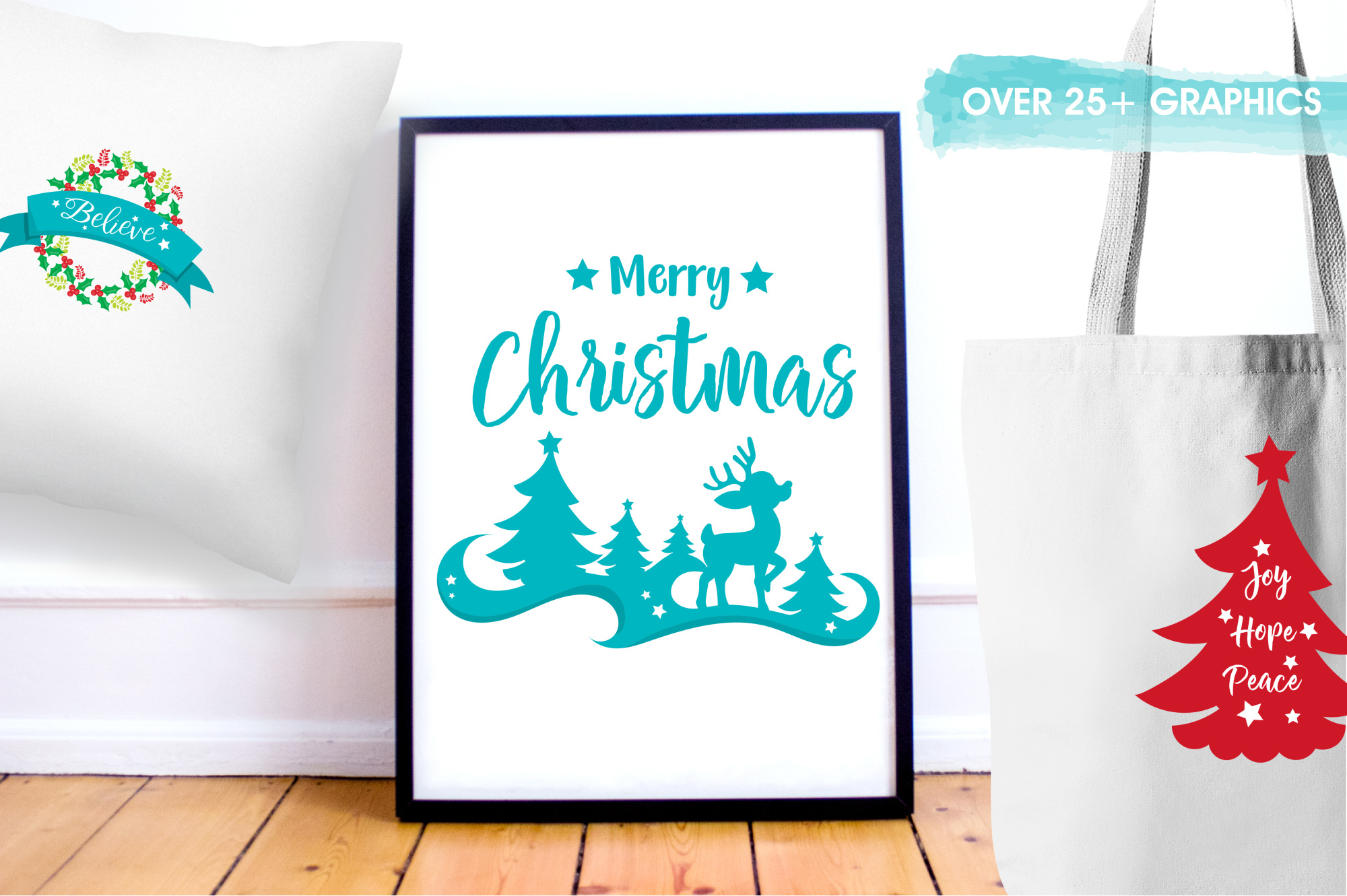 Happy Holidays  graphics and illustrations example image 5