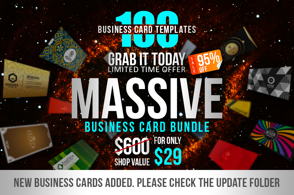 100 Massive Business Card Bundle by Mar | Design Bundles