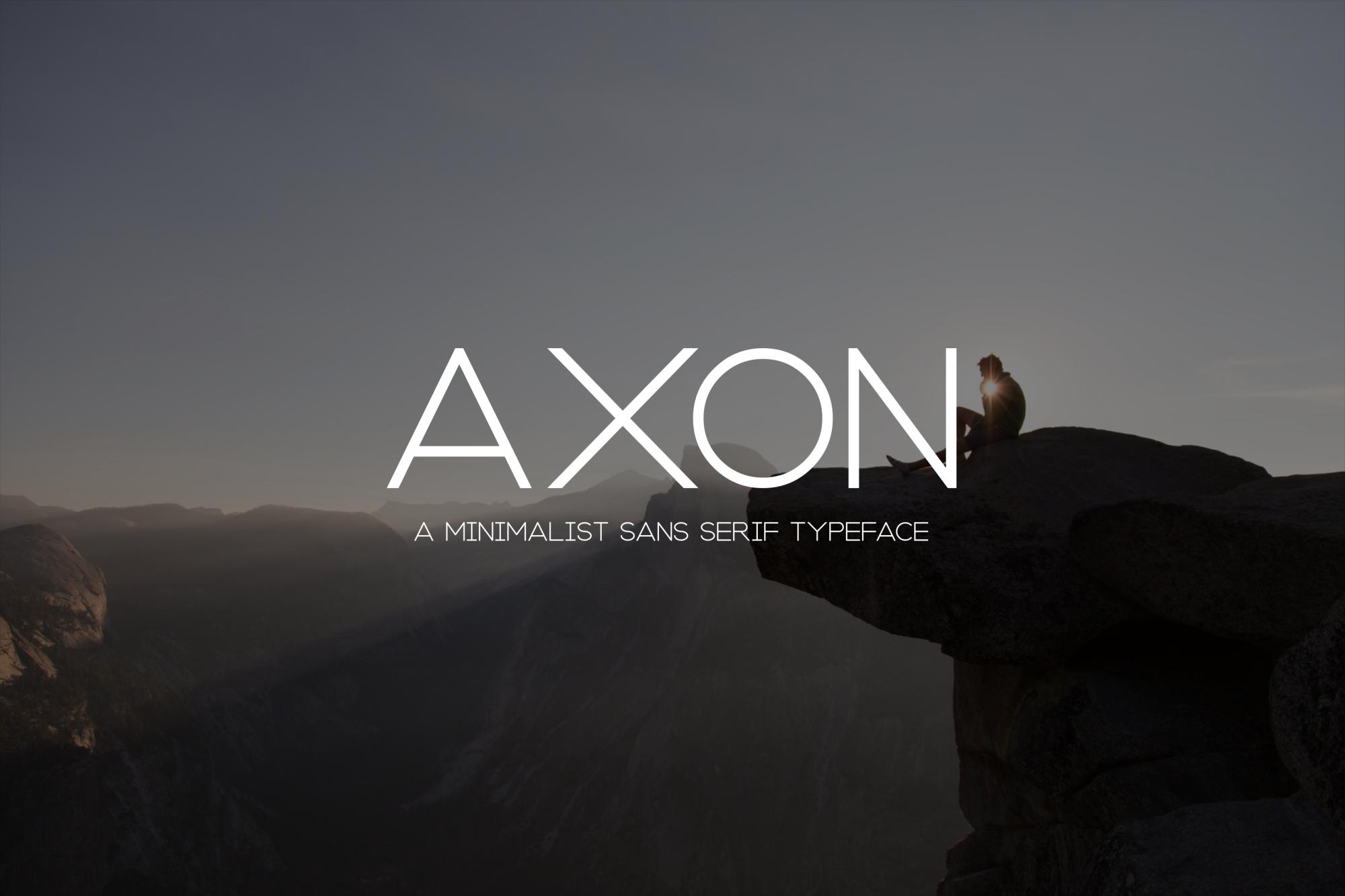 Axon   Minimalist Sans Serif Family example image 1
