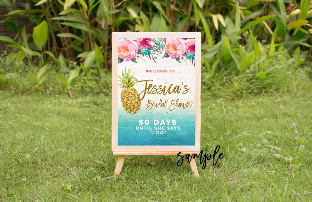 tropical summer mock up, summer mock up frame, summer wedding party frame, digital frame sign, landscape mock up, vertical mock up, PSD example image 2
