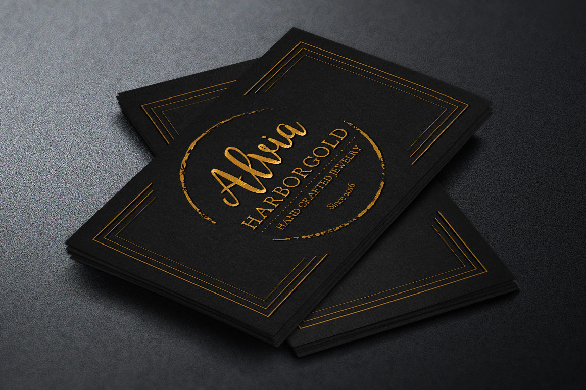 Jewelry Store Business Card Photoshop Template example image 1