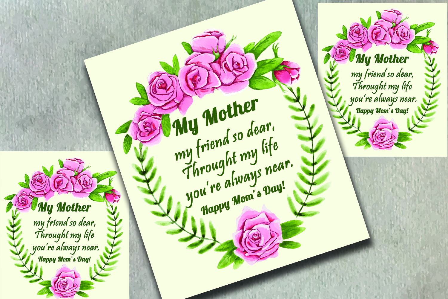 Floral Mothers Day Greeting Card