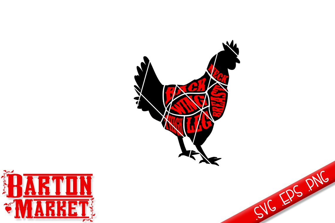 Chicken Butcher SVG / EPS / PNG example image 2
