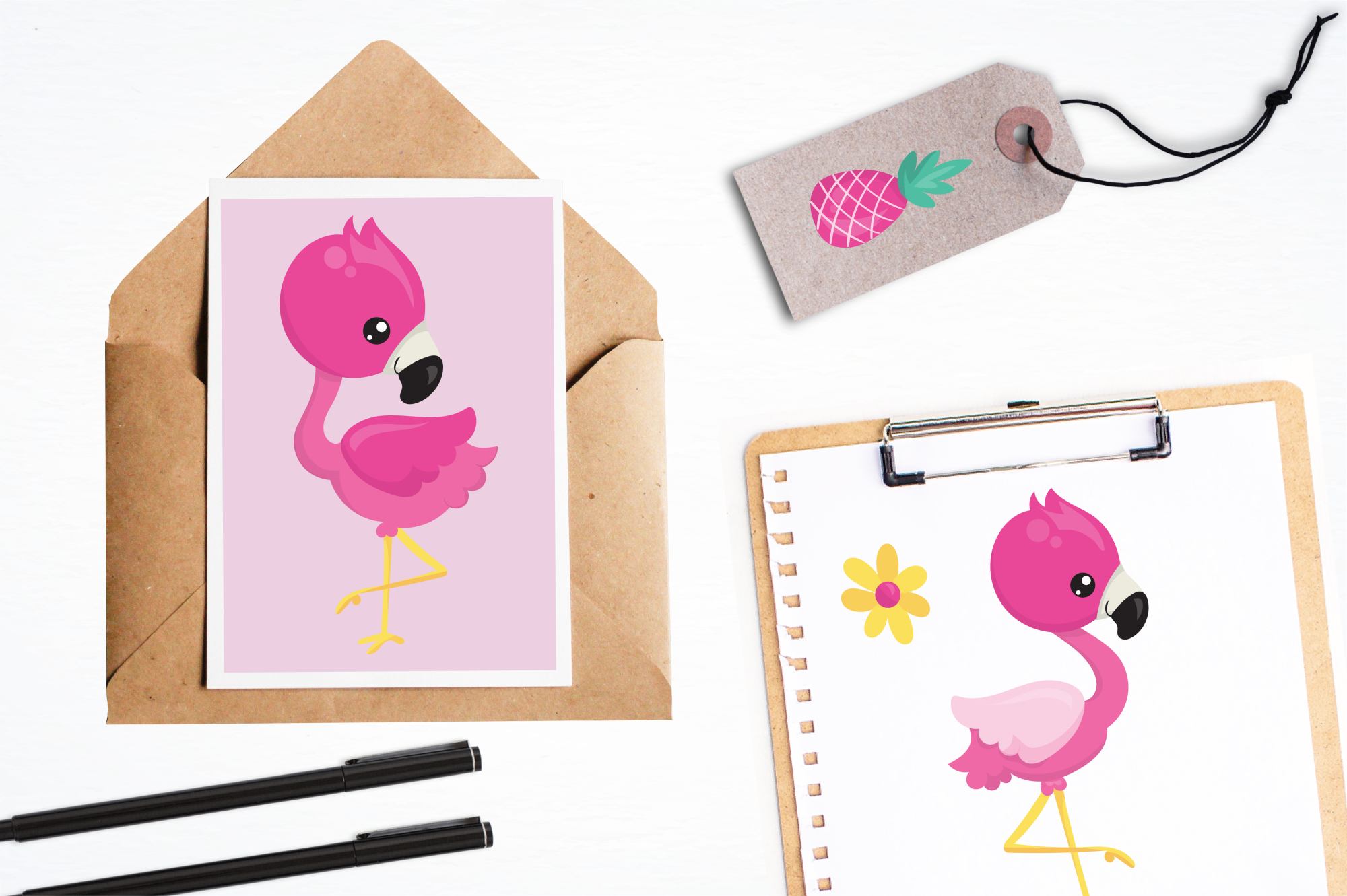 Flamingo graphics and illustrations example image 4