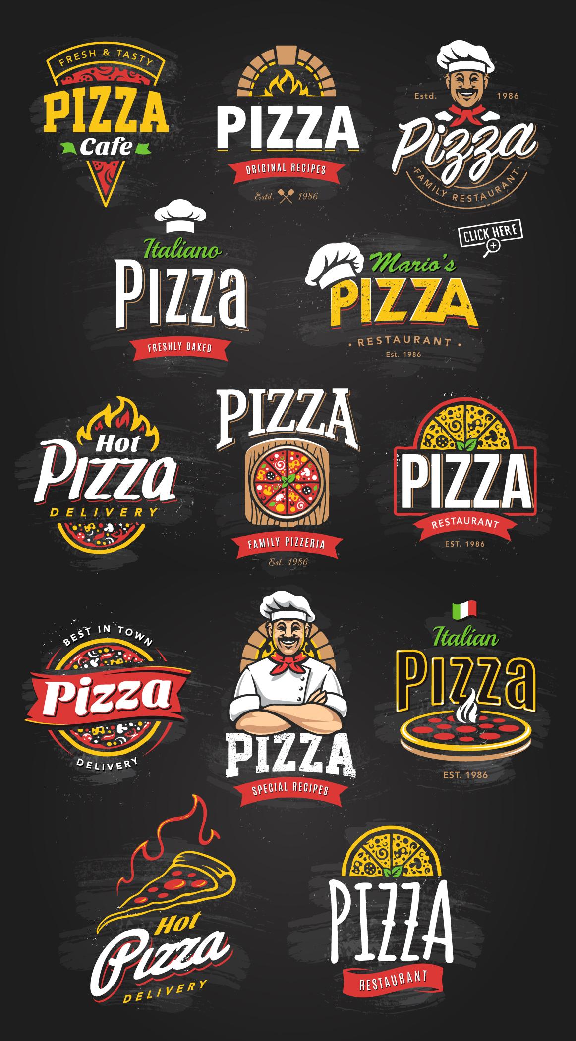 Pizza Logo Templates example image 6