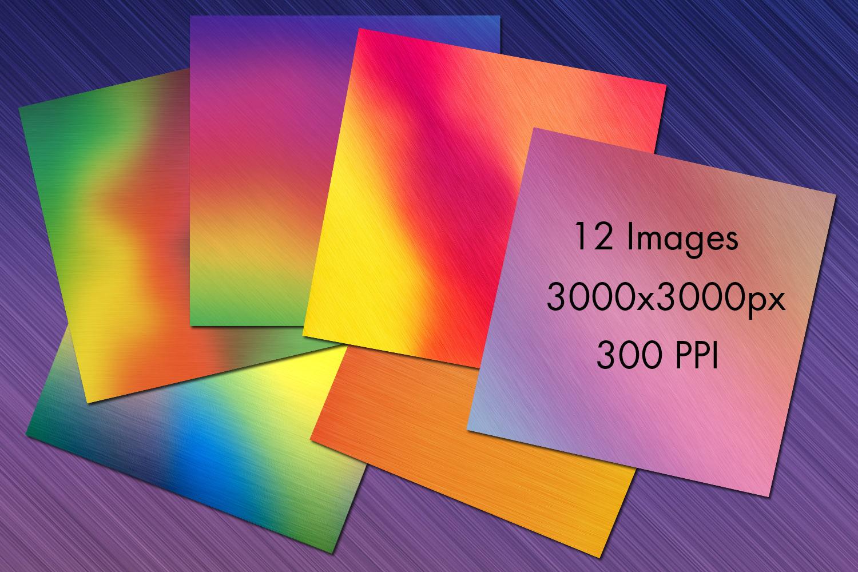 Pastel Rainbow Brushed Metal-Style Backgrounds example image 2