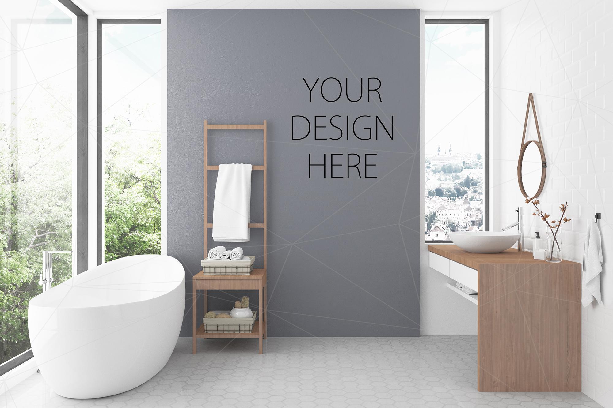 Interior Mockup Bundle  Bathroom Background Example Image 1