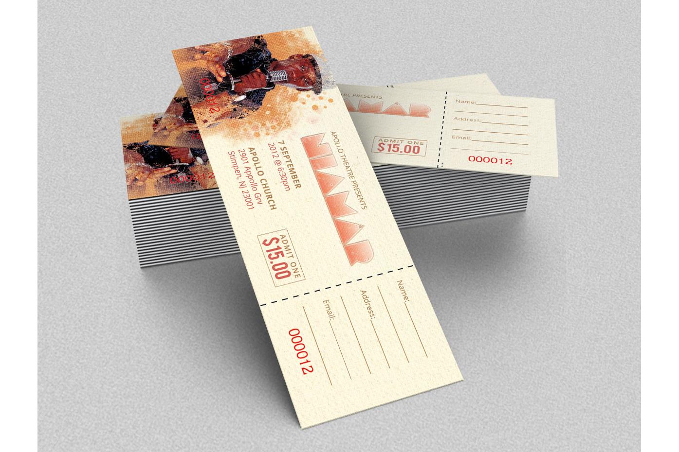 Concert Ticket Template by Godserv Desi | Design Bundles