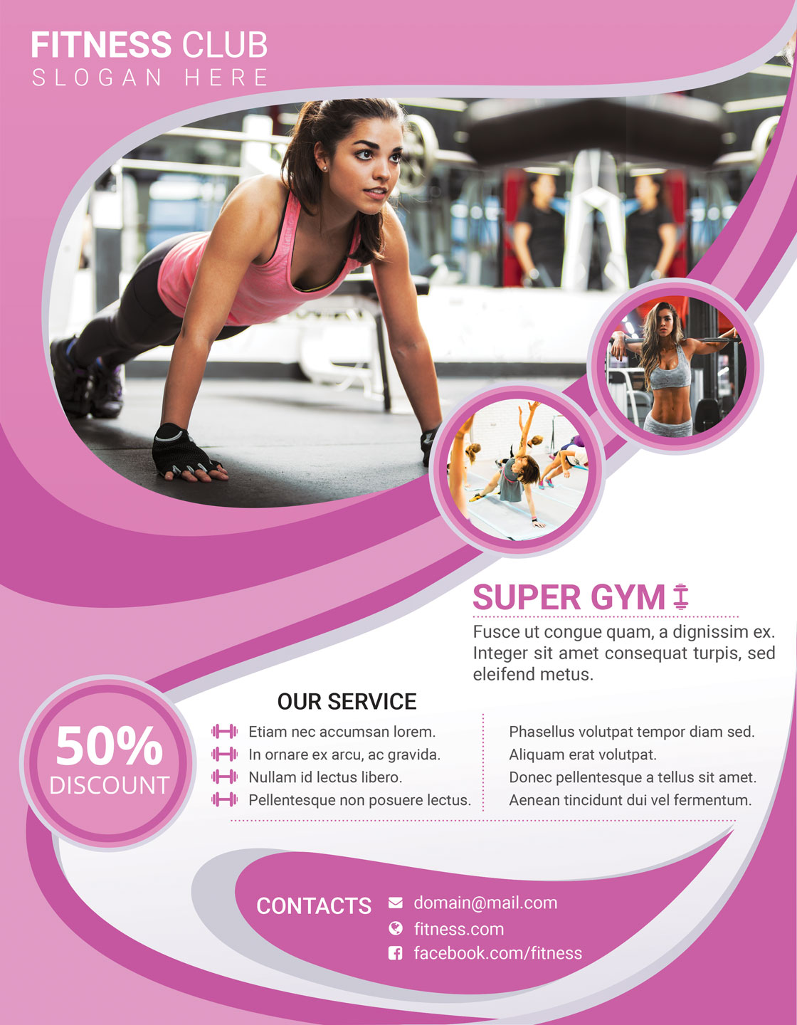 Fitness And Gym Flyer Poster Example Image 10