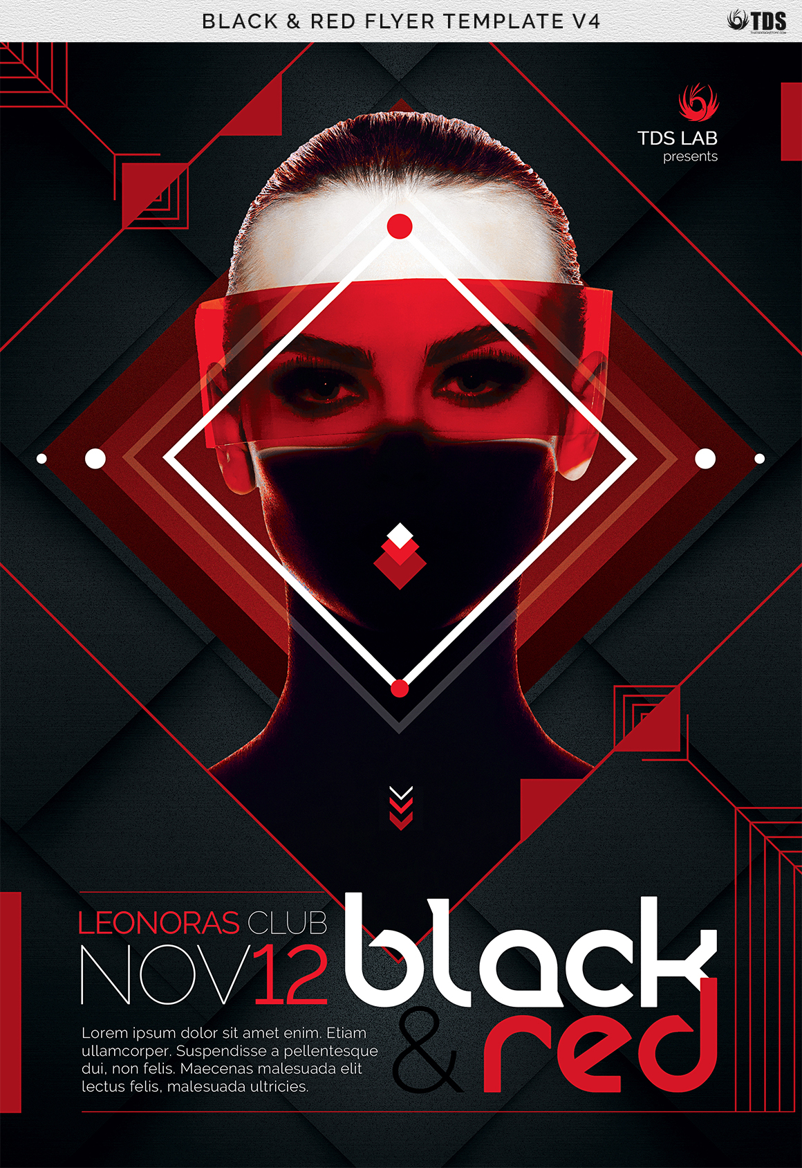 Black and Red Flyer Template V4 example image 7