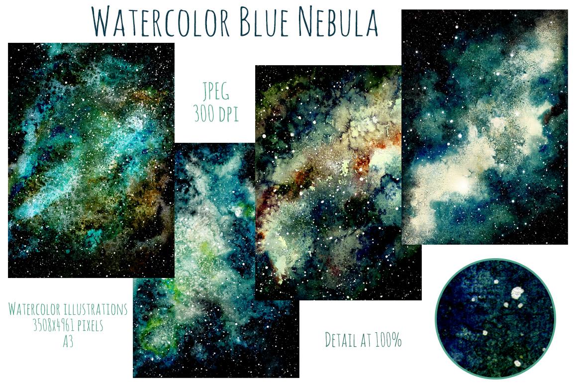 Blue Nebula Set example image 3