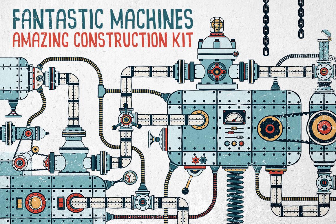 Fantastic Machines Construction Kit example image 1