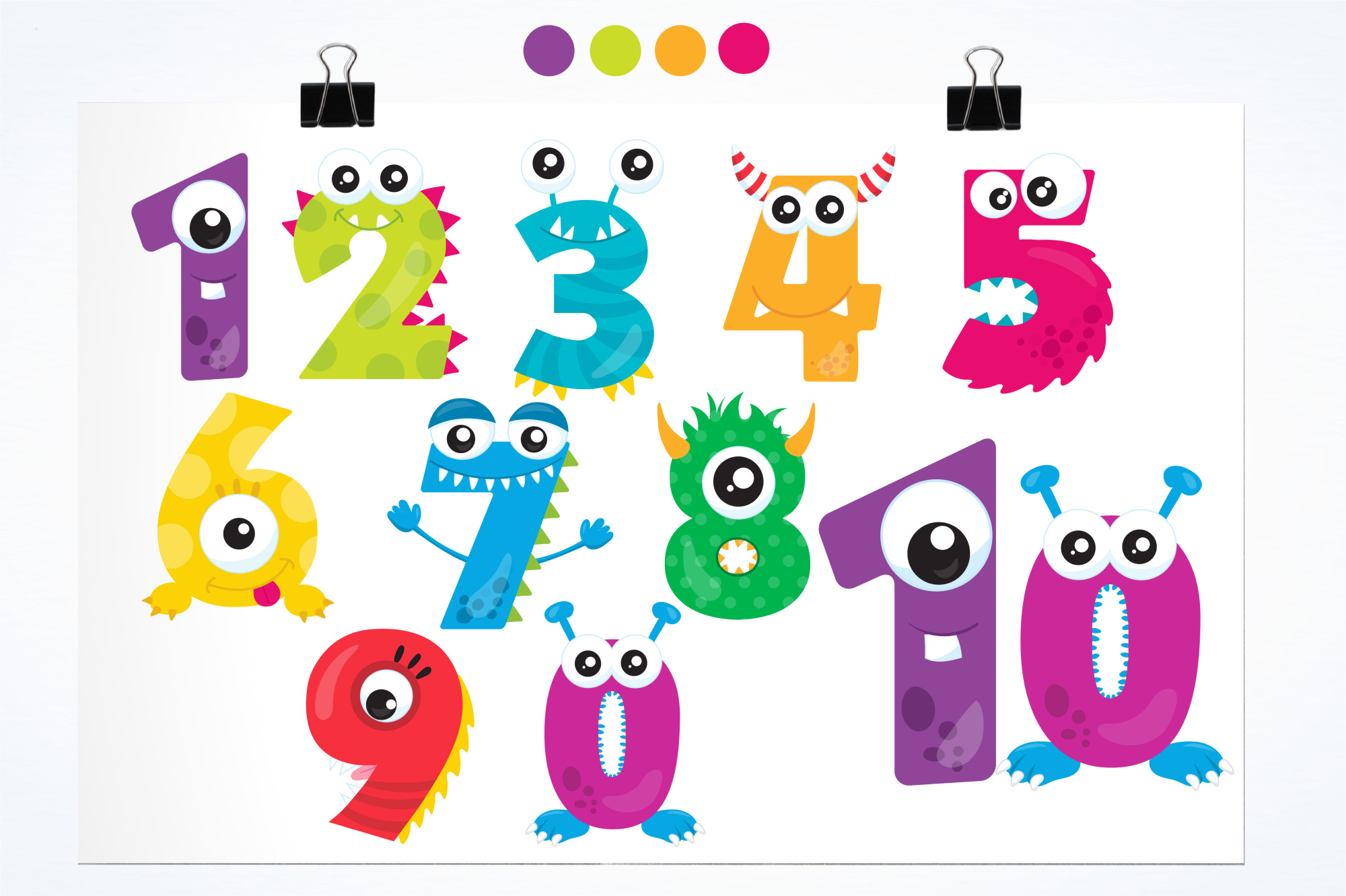 Monster Numbers graphics and illustrations example image 2